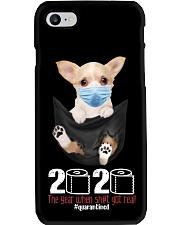 The year When Sh t Got Real Quarantined Chihuahua Phone Case thumbnail