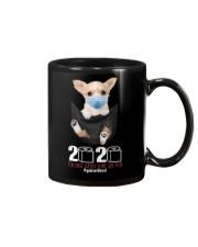 The year When Sh t Got Real Quarantined Chihuahua Mug thumbnail