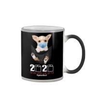 The year When Sh t Got Real Quarantined Chihuahua Color Changing Mug thumbnail
