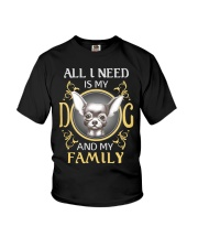 All I Need Is My And My Family frenchie Youth T-Shirt thumbnail