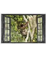 Sloth In Jungle Through The Window Poster Cute Prints For Wall 17x11 Poster front