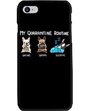 My Quarantine Routine frenchie  Phone Case thumbnail