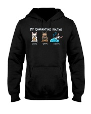 My Quarantine Routine frenchie  Hooded Sweatshirt thumbnail