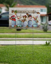 Chihuahua Dressed Up Christmas It's Okay 18x12 Yard Sign aos-yard-sign-18x12-lifestyle-front-09