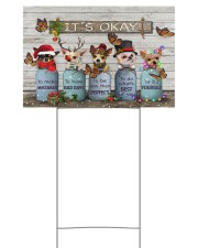 Chihuahua Dressed Up Christmas It's Okay 18x12 Yard Sign front