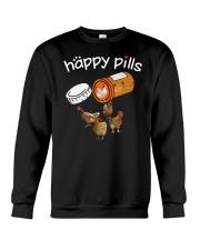 Chickens Happy pills T-shirt Crewneck Sweatshirt thumbnail