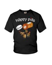 Chickens Happy pills T-shirt Youth T-Shirt thumbnail