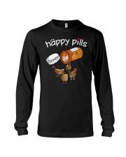 Chickens Happy pills T-shirt Long Sleeve Tee thumbnail
