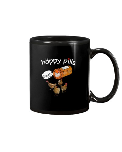 Chickens Happy pills T-shirt