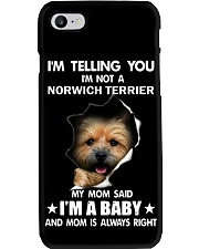 Im telling you im not a norwich terrier edition Phone Case thumbnail
