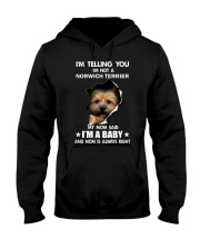 Im telling you im not a norwich terrier edition Hooded Sweatshirt thumbnail