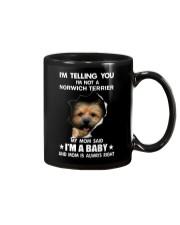 Im telling you im not a norwich terrier edition Mug thumbnail