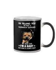 Im telling you im not a norwich terrier edition Color Changing Mug thumbnail