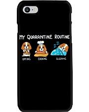 My Quarantine Routine cocker spaniel3 Phone Case thumbnail