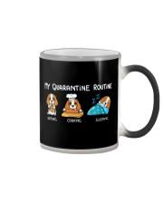 My Quarantine Routine cocker spaniel3 Color Changing Mug thumbnail