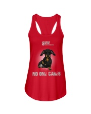 Shh No One Cares Dachshund T-shirt  Ladies Flowy Tank thumbnail