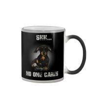 Shh No One Cares Dachshund T-shirt  Color Changing Mug thumbnail