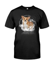 Corgi Mirror Water Reflection Shirt Gifts For Dog Lovers Classic T-Shirt front