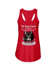 My Best Friend May Not Be My Family By Frenchie Ladies Flowy Tank thumbnail