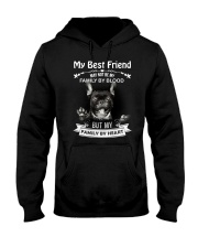 My Best Friend May Not Be My Family By Frenchie Hooded Sweatshirt thumbnail