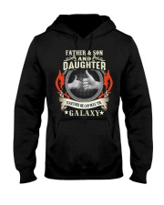 father and son and daughter Hooded Sweatshirt thumbnail
