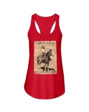 I AINT RICH BUT LORD IM HORSE Ladies Flowy Tank thumbnail