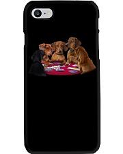 dachshund playing poker Phone Case thumbnail