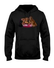 dachshund playing poker Hooded Sweatshirt thumbnail