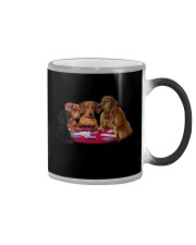 dachshund playing poker Color Changing Mug thumbnail