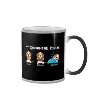 My Quarantine Routine beagle4 Color Changing Mug thumbnail