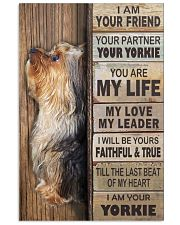 yorkie poster 11x17 Poster front