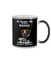 I'm telling you i'm not a boxer Color Changing Mug thumbnail