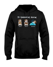 My Quarantine Routine bulldog2 Hooded Sweatshirt thumbnail