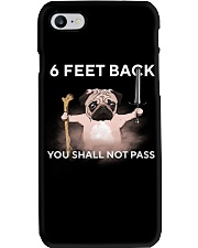 6 Feet Back You Shall Not Pass pug Phone Case tile