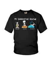 My Quarantine Routine boston2 Youth T-Shirt thumbnail