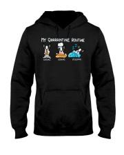 My Quarantine Routine boston2 Hooded Sweatshirt thumbnail