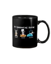 My Quarantine Routine boston2 Mug thumbnail
