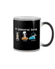 My Quarantine Routine boston2 Color Changing Mug thumbnail