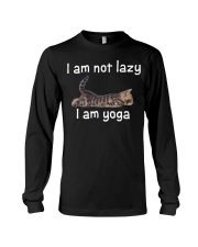 Cats Cute T-shirt Cats Yoga Funny Long Sleeve Tee thumbnail
