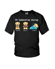 My Quarantine Routine Labrador Retriever2 Youth T-Shirt thumbnail