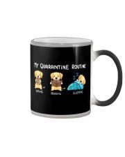 My Quarantine Routine Labrador Retriever2 Color Changing Mug thumbnail