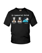 My Quarantine Routine Dalmatian Youth T-Shirt thumbnail