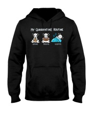 My Quarantine Routine Dalmatian Hooded Sweatshirt thumbnail