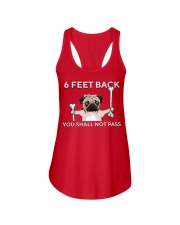 pug 6 feet back Ladies Flowy Tank thumbnail