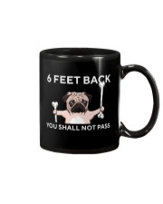 pug 6 feet back Mug tile