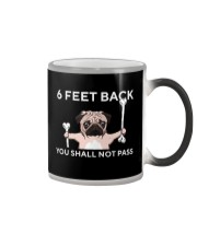pug 6 feet back Color Changing Mug thumbnail