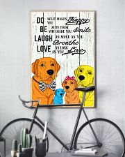 Do Be Laugh Love Labrador 11x17 Poster lifestyle-poster-7