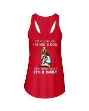 I'M TeLLING yOU i'm nOT A Dog My Mom Said I'M A Ladies Flowy Tank thumbnail