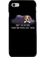 Don'T Go Outside There Are People Out beagle 2 Phone Case thumbnail