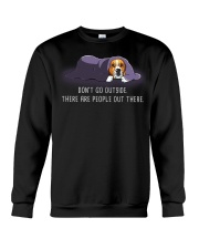 Don'T Go Outside There Are People Out beagle 2 Crewneck Sweatshirt thumbnail